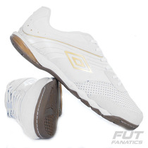 Chuteira Umbro Falcão Pro Black & White Futsal Branca