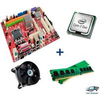 Kit Placa Mãe Intel Ddr2 775 Core 2 Duo +2gb Ram!promoção!