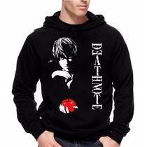Moletom Death Note Modelo 2 Blusa Com Estampa Grande