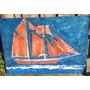 Quadro Tela Pintura Barco