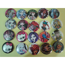 30 Botons Personalizados Infantis Monster High 3,8cm