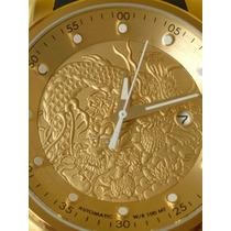 Relógio Invicta Yakuza 18215 Automático Plaque Ouro 18k