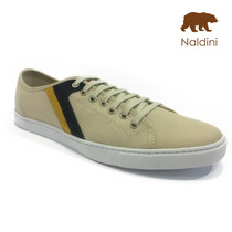 Sapatênis Naldini Creme - Masculino - Nt2000