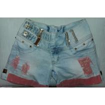 Shorts Jeans Rhero Com Lycra N: 38 + Bojo Bumbum Removível