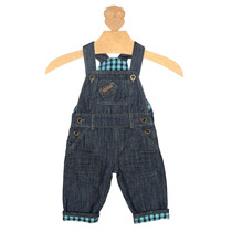 Jardineira Jeans Infantil Menino Kidin´s Macacão Kd 7511