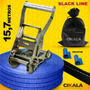 Slack Line Cinta 15,7 Mt + Alça + Catraca + Protetor + Bolsa