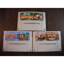 Donkey Kong Country 1 2 3 Original Super Famicom Snes