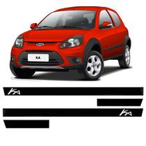 Friso Lateral Ford Ka 03 04 05 06 07 08 09 10 11 4p Kit 4pcs