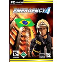 Emergency 4 Pc Dvd-rom Simulador Bombeiros Em Portugues