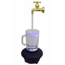Enfeite Fonte De Água Torneira Mágica Prata