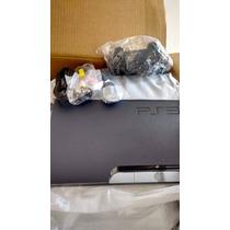 Playstation 3-ps3 160 Gb + Dois Jogos De Brinde Em Bluray