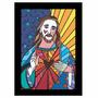 Quadro Releitura Romero Britto Jesus Cristo ( 55x 85cm )