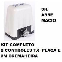 Motor Rossi Dz4 Sk 127- Ou 220 Kit 2 Tx E Cremalheira 3 Mt.