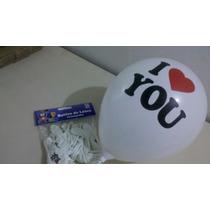 25 Balões/bexigas Estampa I Love You