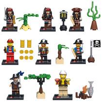 Coleção Lego Dos Piratas Do Caribe - 8 Bonecos