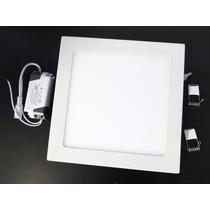 10 Luminarias Plafon Led 25w Embutir Teto Led Quadrado Gesso