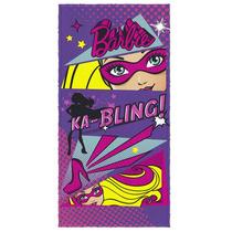 Toalha De Banho Infantil Barbie Super Princesa 4 Lepper