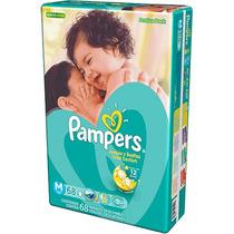 Fralda Pampers Total Confort M Descartável 68 Unidades-verde