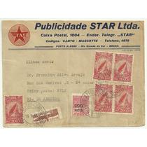 Envelope Aéreo Com Selos Década 1930