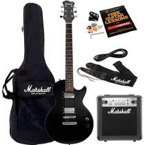Kit Guitarra Amplificador Com Bag Afinador Marshall Mgap-b
