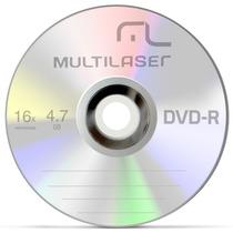 10 Midia Dvd-r Virgem Dvdr Multilaser C/logo 16x 4.7g