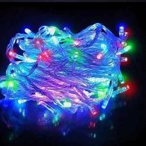 Kit 20 Pisca Natal Led 100l 8 Funções 10 Metros Decoração