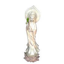 Estatueta Da Deusa Kuan Yin Avalokistevara Em Resina 41cm