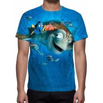 Camisa, Camiseta Disney Procurando Nemo - Estampa Total