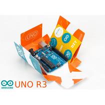 Arduino Uno R3 Original Com Caixa Adesivos E Cabo Usb