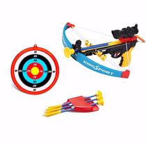 Arqueiro Jogo Arco Flechas Crossbow Lançador Alvo Brinquedo