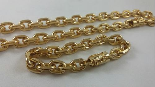 7ff9277d9fb Cordão Pulseira Cartier Cadeado 12mm 70cm Banhado A Ouro 18k
