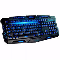 Teclado Gamer Multimídia Luminoso Usb Abnt2 - Pronta Entrega