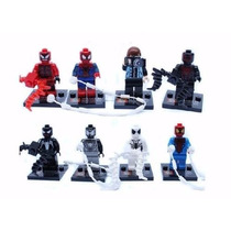 Homem Aranha Compativel Ao Lego~4cm- Set / 8 Pçs