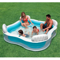 Piscina Inflável Intex Familiar 882 Litros Com 04 Assentos