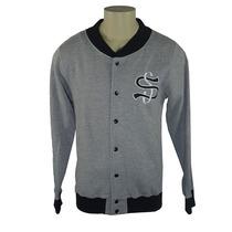 Moletom Aberto Stussy Big League Varsity Jacket