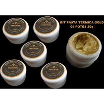 Kit Pasta Térmica Ouro, Gold Processador Cooler 100g