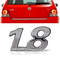 Emblema Tampa Porta Mala Fiatpalio Siena Strada 1.8 Cromado