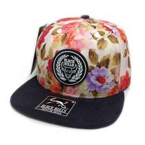 Boné Aba Reta Black Bulls Snapback Lançamento Floral Sk8