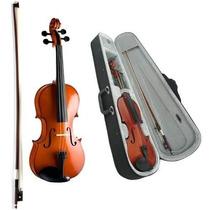 Violino 3/4 Vogga Von134 C/ Arco - Estojo Termico E Breu