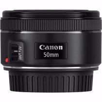 Lente Canon Ef 50mm F/1.8 Stm Com Motor De Auto-foco. Stm