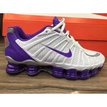 Nike Shox 12 Mola Tlx Feminino Branco 100% Original