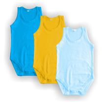 Promoção: Body Regata Rn Ao Tam 2 - 18 Cores - 100%algodão