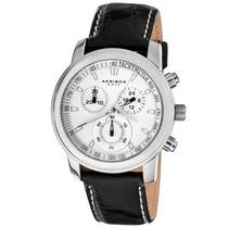 Akribos Xxiv Cronógrafo Quartz Strap Watch Dos Homens Coron