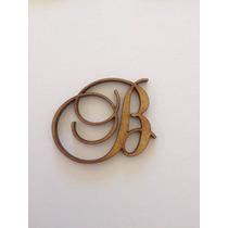 2 Letras Em Mdf Fonte Brock Script 3cm De Altura