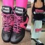 Bota Treino Kit Divas Curta Academia Fitness+toalha E Regata