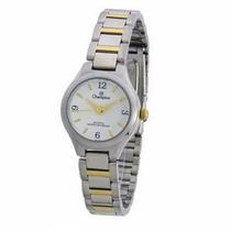Relógio Feminino Champion Prata Dourado Ch25249 Em Promoção