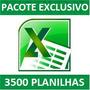 3500 Planilhas De Excel Prontas Para Uso.