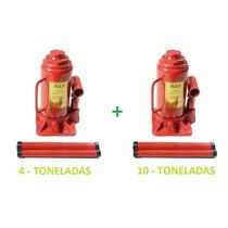 Mini Macaco Hidraulico 10 E 4 Toneladas Tipo Garrafa- Fuzil!