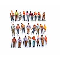10 Figuras Humanas Escala 1:48 Plástico Maquete Arquitetura