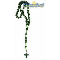 Terço Quartzo Verde Pedra Preciosa Brasileira Natural 50cm